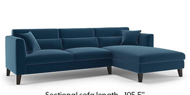 Lewis Sofa (Cobalt, Fabric Sofa Material, Regular Sofa Size, Soft Cushion Type, Sectional Sofa Type, Sectional Master Sofa Component)