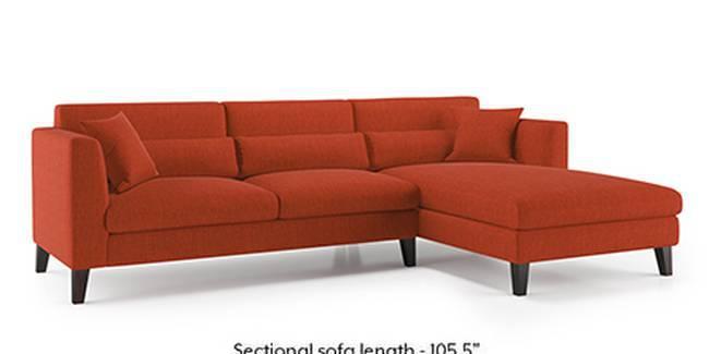 Lewis Sofa (Lava, Fabric Sofa Material, Regular Sofa Size, Soft Cushion Type, Sectional Sofa Type, Sectional Master Sofa Component)