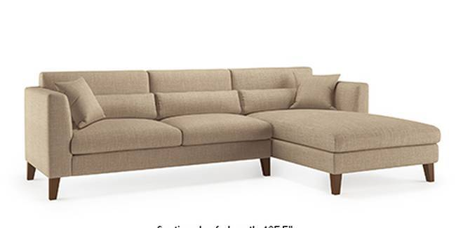 Lewis Sofa (Fabric Sofa Material, Regular Sofa Size, Soft Cushion Type, Sectional Sofa Type, Sectional Master Sofa Component, Sandshell Beige)