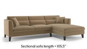 Lewis Sectional Sofa (Tuscan Tan Velvet)