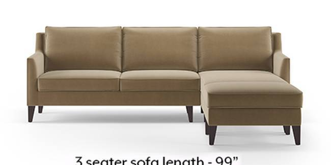 Greenwich Sofa (Fabric Sofa Material, Regular Sofa Size, Soft Cushion Type, Sectional Sofa Type, Sectional Master Sofa Component, Tuscan Tan Velvet)