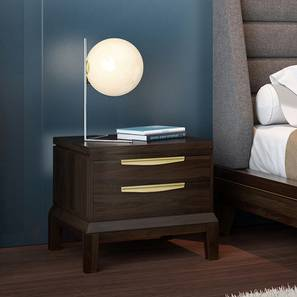 Taarkashi Bedside Table (American Walnut Finish) by Urban Ladder