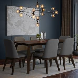 Taarkashi 6-Seater Dining Table Set (American Walnut Finish) by Urban Ladder