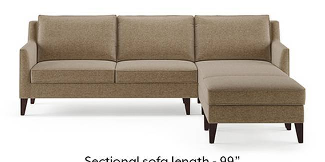 Greenwich Sofa (Fabric Sofa Material, Regular Sofa Size, Soft Cushion Type, Sectional Sofa Type, Sectional Master Sofa Component, Safari Brown)