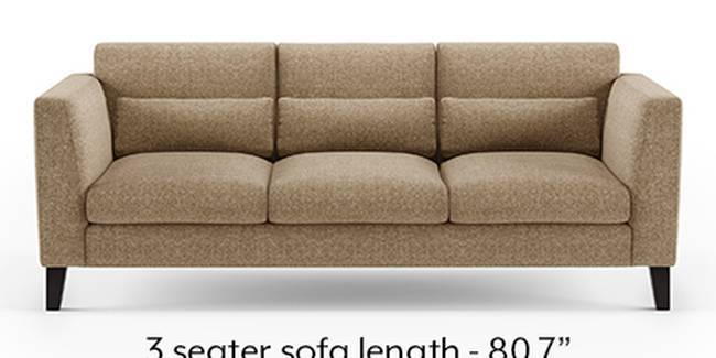 Lewis Sofa (Fabric Sofa Material, Regular Sofa Size, Soft Cushion Type, Regular Sofa Type, Master Sofa Component, Safari Brown)