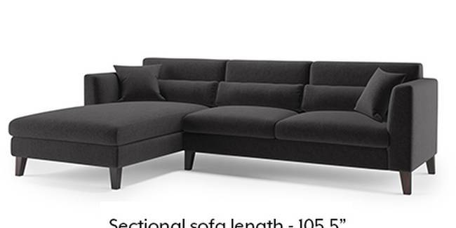 Lewis Sofa (Fabric Sofa Material, Regular Sofa Size, Soft Cushion Type, Sectional Sofa Type, Sectional Master Sofa Component, Pebble Grey)