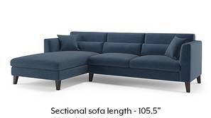 Lewis Sectional Sofa (Lapis Blue)