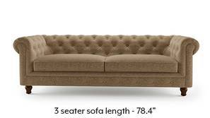 Winchester Fabric Sofa (Safari Brown)