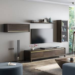 Taarkashi Entertainment Unit (American Walnut Finish) by Urban Ladder
