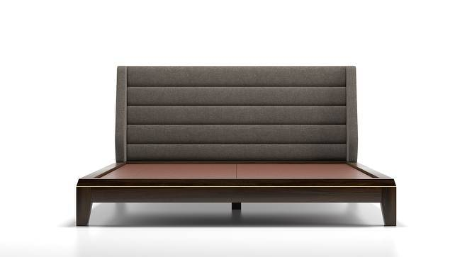 Taarkashi Upholstered Essential Bedroom Set (King Bed Size, American Walnut Finish) by Urban Ladder