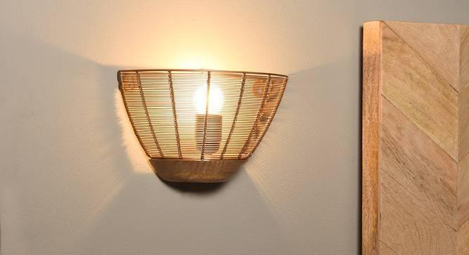 Tupelo Wall Lamp (Gold Shade Finish) by Urban Ladder