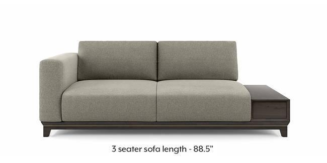 Taarkashi Sofa With Integrated Side Table (Gainsboro Grey) (1-seater Custom Set - Sofas, None Standard Set - Sofas, Fabric Sofa Material, Regular Sofa Size, Regular Sofa Type, Gainsboro Grey)