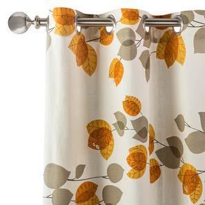 "Amoga Curtains - Set Of 2 (Door Curtain Type, Amoga Ochre - Evening Mist, 54"" x 108"" Curtain Size) by Urban Ladder"