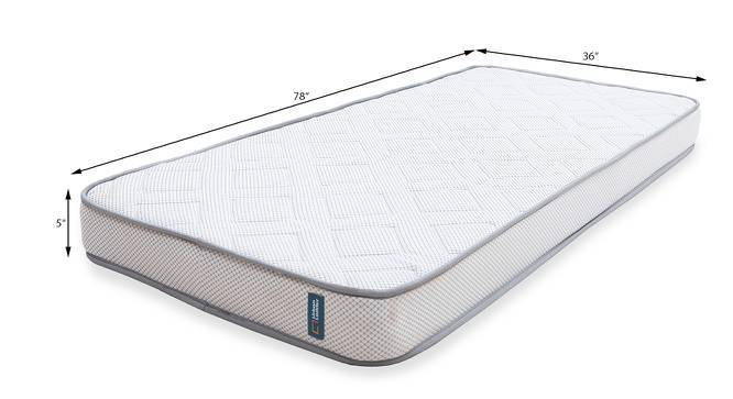 Theramedic Memory Foam Mattress with Temperature Control (Single Mattress Type, 78 x 36 in (Standard) Mattress Size, 5 in Mattress Thickness (in Inches)) by Urban Ladder