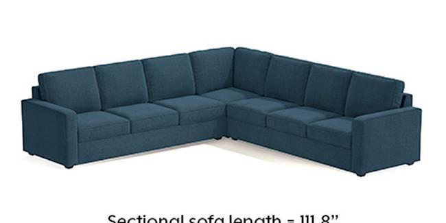 Apollo Sofa Set (Fabric Sofa Material, Regular Sofa Size, Soft Cushion Type, Corner Sofa Type, Corner Master Sofa Component, Colonial Blue, Regular Back Type, Regular Back Height)