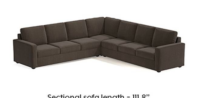 Apollo Sofa Set (Fabric Sofa Material, Regular Sofa Size, Soft Cushion Type, Corner Sofa Type, Corner Master Sofa Component, Pine Brown, Regular Back Type, Regular Back Height)