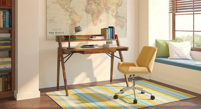 Corman Study Table (Teak Finish) by Urban Ladder