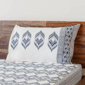 Basra Bedsheet Set (Blue, Single Size) by Urban Ladder