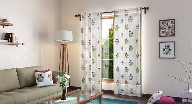 "Ayana Curtain - Set Of 2 (Door Curtain Type, Multi Colour, 54""x84"" Curtain Size) by Urban Ladder"