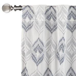 "Basra Curtain - Set Of 2 (Blue, Door Curtain Type, 54""x84"" Curtain Size) by Urban Ladder"