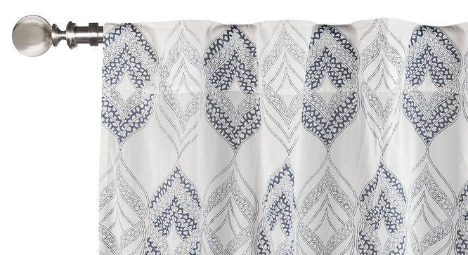 "Basra Curtain - Set Of 2 (Blue, Door Curtain Type, 54""x84"" Curtain Size) by Urban Ladder"