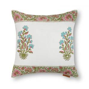 "Lorea Cushion Cover - Set Of 2 (16"" X 16"" Cushion Size, Multi Colour, Element Pattern) by Urban Ladder"