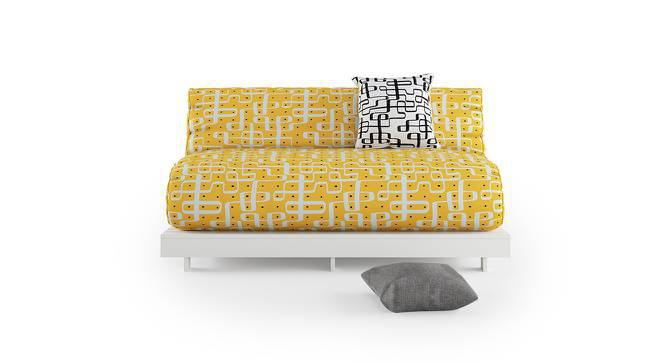 Finn Double Futon Sofa Cum Bed Without Square Cushion (Kolam Surface) by Urban Ladder