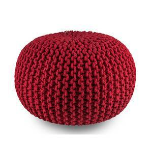 Carmen Pouffe (Red) by Urban Ladder