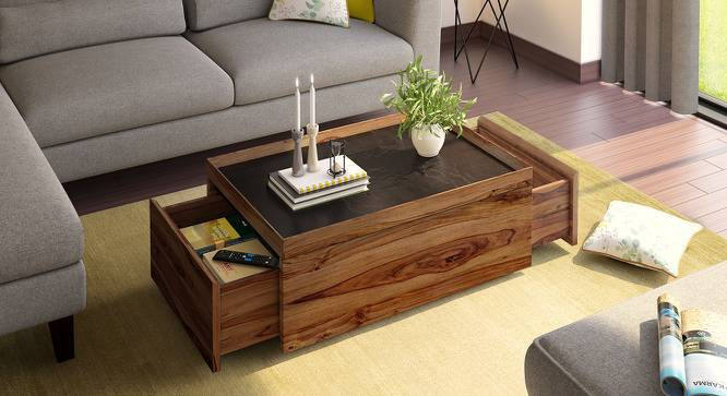 Berman Storage Coffee Table (Teak Finish) by Urban Ladder
