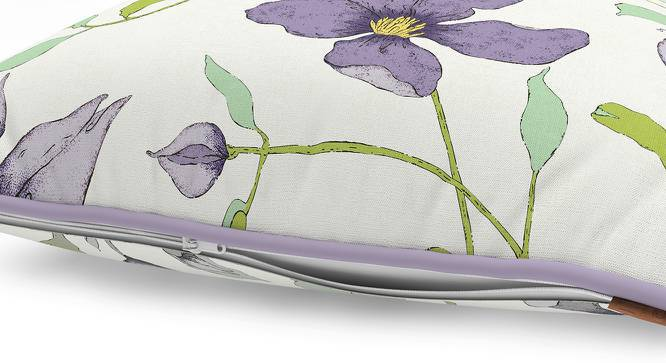 Wilderness Cushion Cover - Set Of 2 (Purple Clematis Pattern) by Urban Ladder