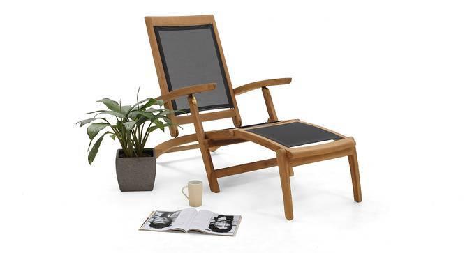 Cayo Steamer Chair (Teak Finish) by Urban Ladder