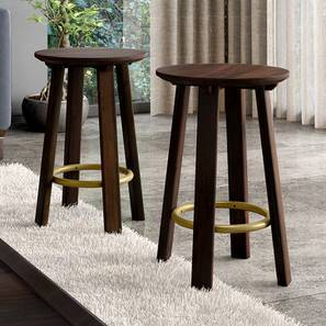 Orbis Stool - Set Of 2 (American Walnut Finish) by Urban Ladder