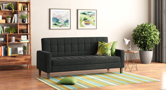 Salford Storage Sofa Bed (Charcoal Grey) by Urban Ladder