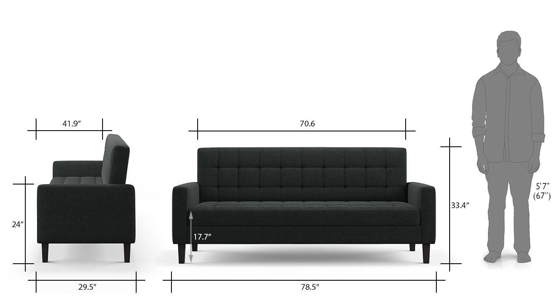 Salford storage sofa bed grey 12