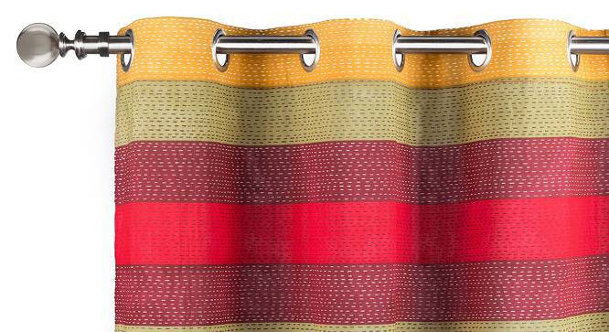 "Colour Block Door Curtains - Set Of 2 (54"" x 108"" Curtain Size, Stripes ) by Urban Ladder"