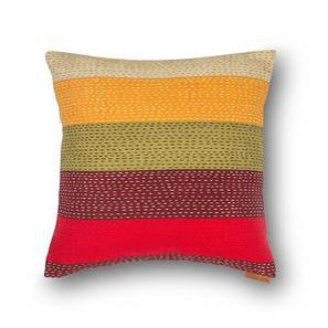 "Colour Block Cushion Covers - Set Of 2 (16"" X 16"" Cushion Size, Stripes  Pattern) by Urban Ladder"