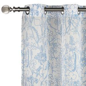 "Botanical Blueprint Door Curtains - Set Of 2 (54"" x 108"" Curtain Size, Imprint) by Urban Ladder"