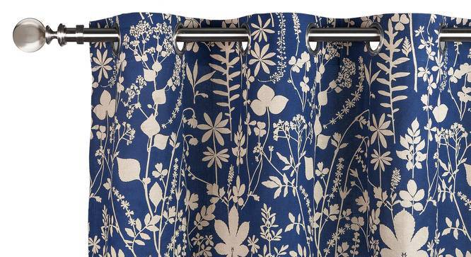 "Botanical Blueprint Door Curtains - Set Of 2 (54"" x 108"" Curtain Size, Spring) by Urban Ladder"