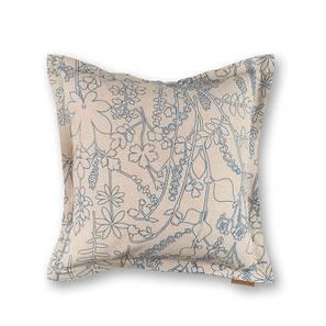 Botanical Blueprint Cushion Cover - Set Of 2 (Imprint Pattern) by Urban Ladder