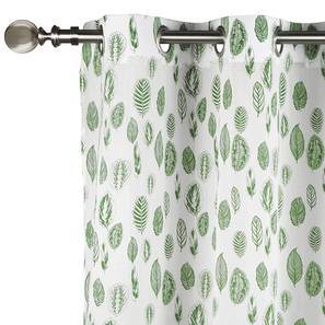 "Bloomingdale Door Curtains - Set Of 2 (54""x84"" Curtain Size, Calathea) by Urban Ladder"