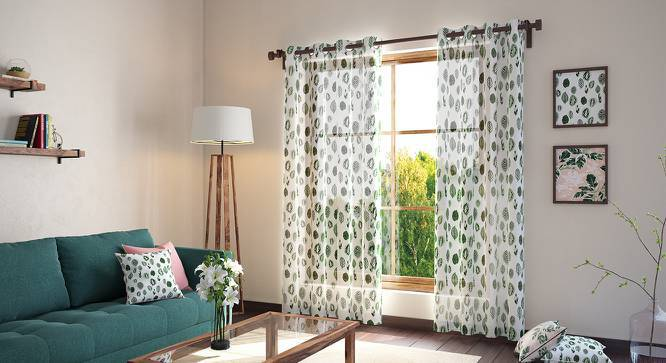 """Bloomingdale Door Curtains - Set Of 2 (54"""" x 108"""" Curtain Size, Calathea) by Urban Ladder"""