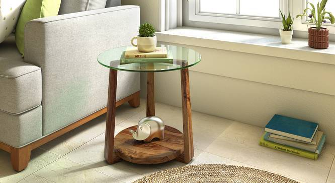 Jones Glass Top Side Table Urban Ladder, Wood End Tables With Glass Top