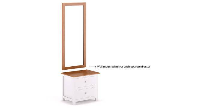 Evelyn Dressing Table With Mirror (White) by Urban Ladder