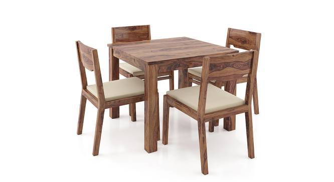 Arabia - Kerry Square 4 Seater Dining Table Set (Teak Finish, Wheat Brown) by Urban Ladder