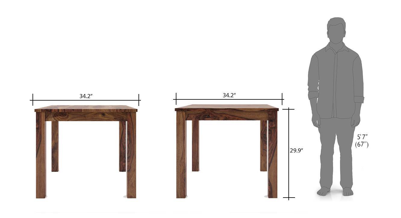 Arabia kerry square 4 seater dining table set tk wb 8