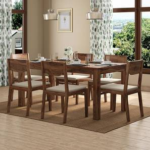 Brighton Large - Kerry 6 Seater Dining Table Set (Teak Finish, Wheat Brown) by Urban Ladder