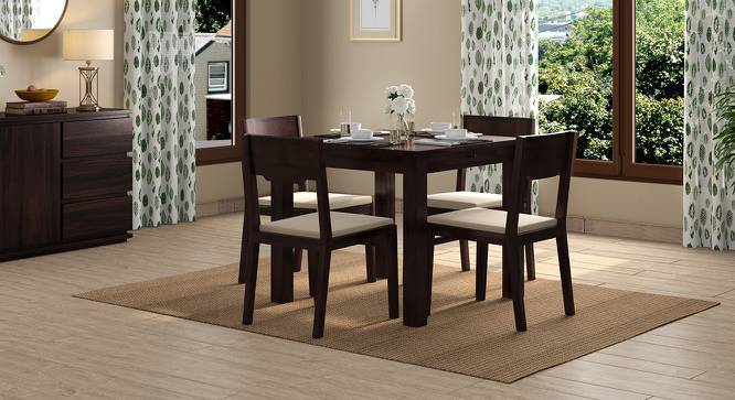 Arabia Storage - Kerry 4 Seater Dining Table Set (Mahogany Finish, Wheat Brown) by Urban Ladder