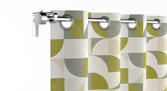 """Colour Block Door Curtains - Set Of 2 (54"""" x 108"""" Curtain Size, Curves & Lines) by Urban Ladder"""