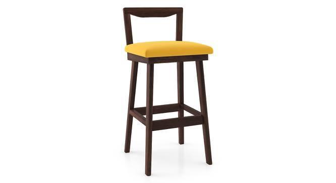 Homer Bar Stool - Set Of 2 (Walnut Finish, Yellow) by Urban Ladder