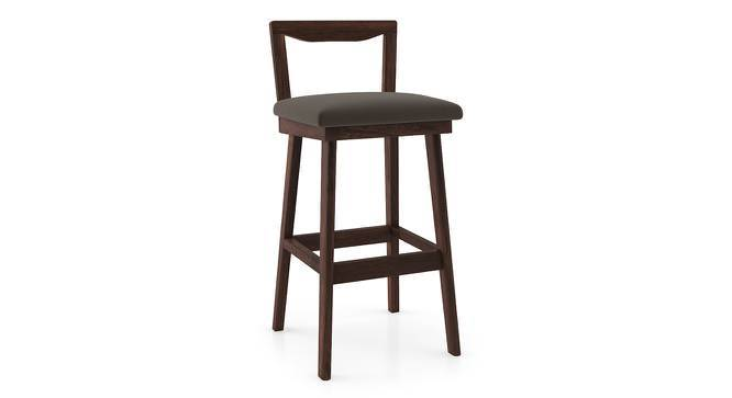 Homer Bar Stool (Walnut Finish, Dark Grey) by Urban Ladder